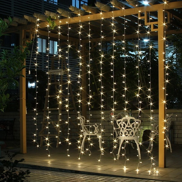Decoración navideña para pérgolas con luces LED