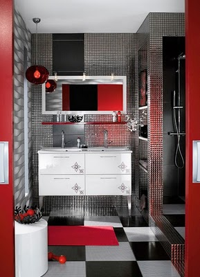 red white and blue bathroom decor peque 241 os ba 241 os modernos decoraci 243 n de interiores y 25707
