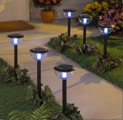 Lampara solar buena idea per for Lamparas led para exteriores