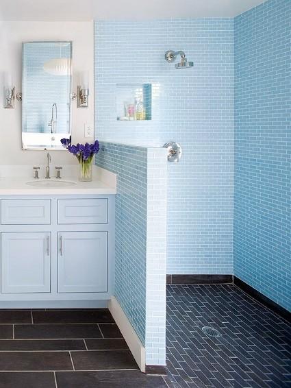 hermosos ba os azules decoraci n de interiores y exteriores estiloydeco. Black Bedroom Furniture Sets. Home Design Ideas