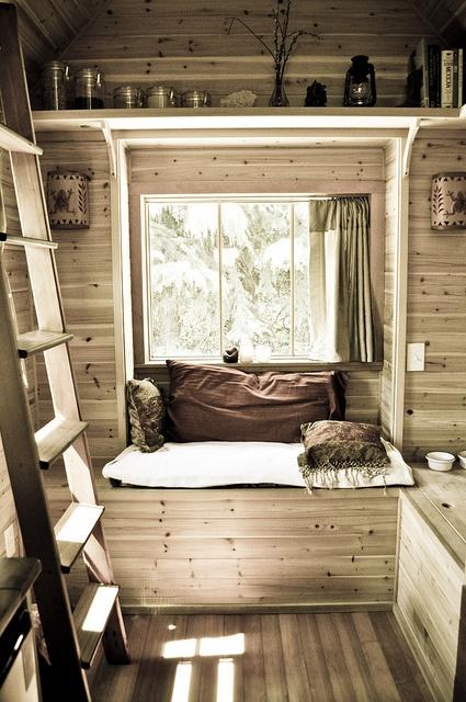 Habitaciones con revestimiento de madera decoraci n de - Habitacion de madera ...