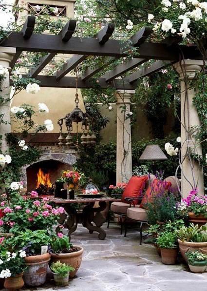 Chimeneas En El Jardin Decoracion De Interiores Y Exteriores - Chimenea-jardin