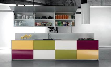 Cocinas multicolor