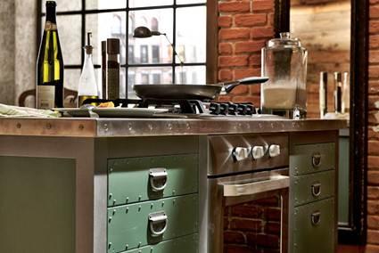 Cocinas estilo industrial decoraci n de interiores y for Cocina industrial tipo loft