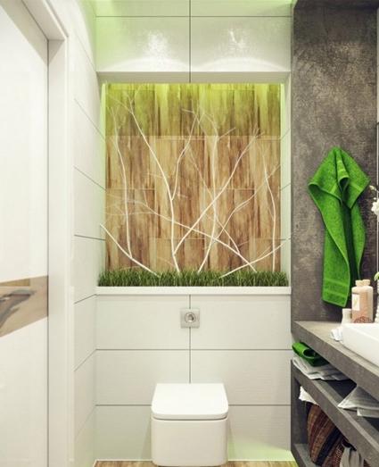 Baños con jardín