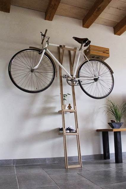 Ideas originales para guardar bicicletas
