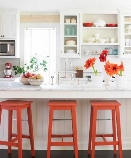 adding color to a white kitchen atr 233 vete con el naranja en la cocina decoraci 243 n de 9003