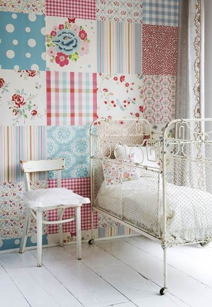Pared con Patchwork