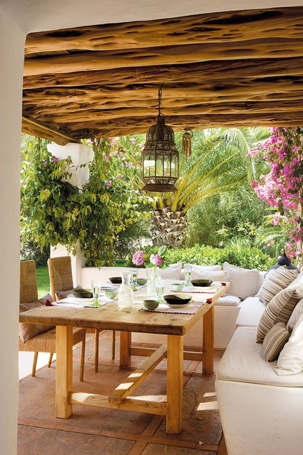 10 patios con galer a decoraci n de interiores y - Decorar porche pequeno ...