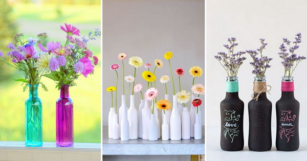 Ideas para decorar con botellas de vidrio