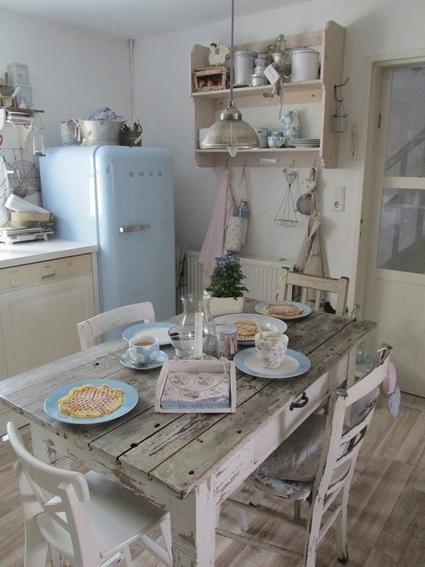 Cocinas con estilo shabby chic decoraci n de interiores y exteriores estiloydeco - Lamparas estilo shabby chic ...