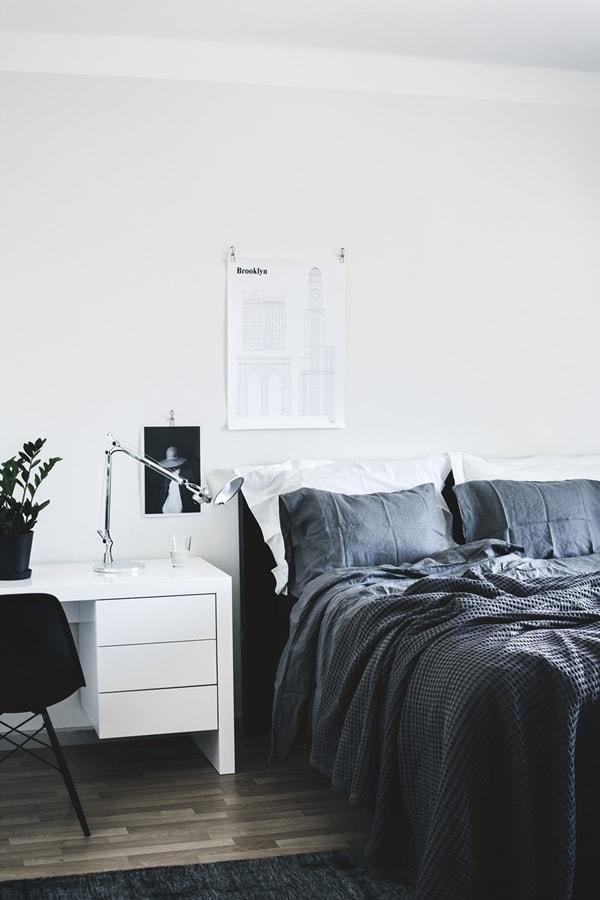 La elegancia de los dormitorios en blanco y negro
