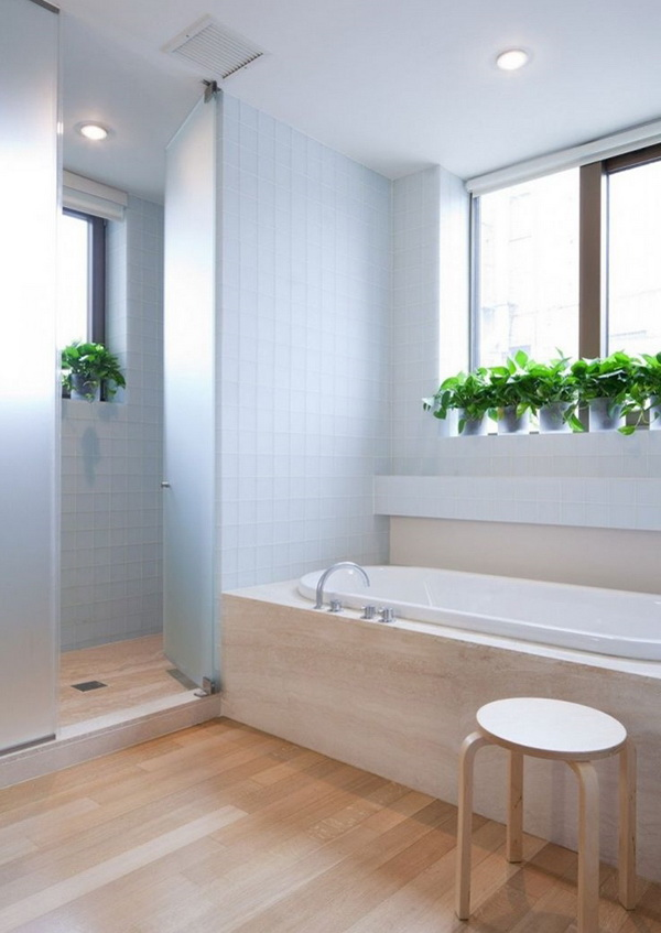 Ideas para decorar el ba o con plantas decoraci n de for Ideas para decorar interiores con plantas