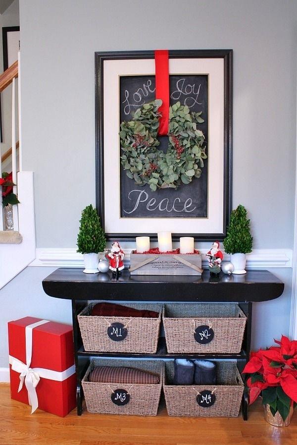 Ideas para decorar recibidores para Navidad