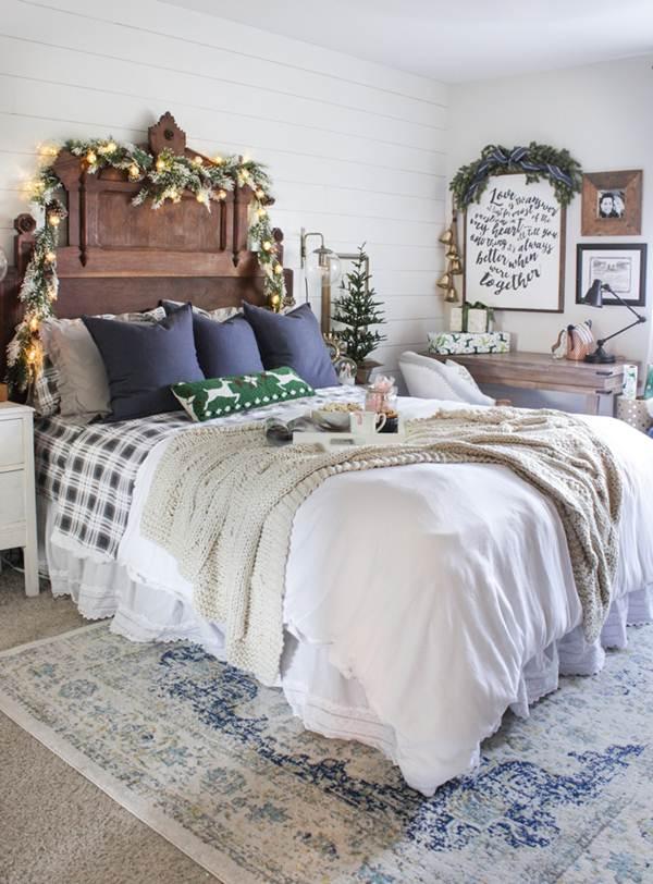 Ideas para decorar dormitorios en navidad decoraci n de for Adornos de navidad para dormitorios