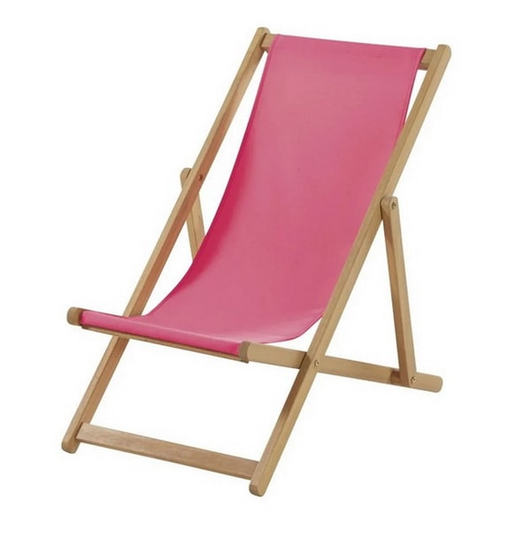 Children's acacia and fabric lounger by Maisons du Monde