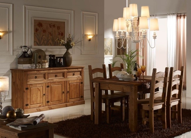 Natural wood dining room furniture