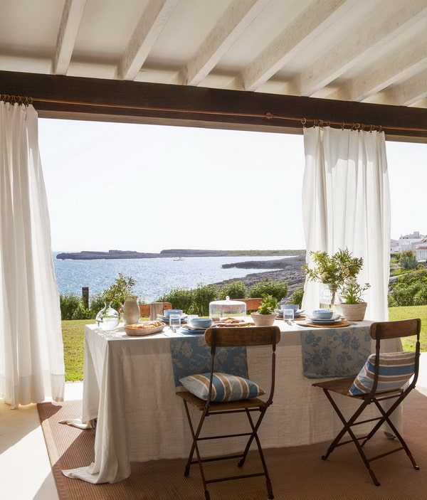 Textiles para decorar porches