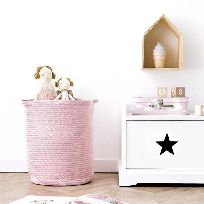 Ideas para decorar con cestas espacios infantiles